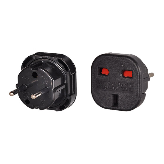 Charger Adapter ENGLAND-POLAND BLACK
