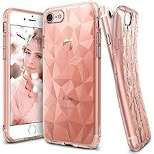 ingke Air Prism Ultra-Thin 3D Cover Gel TPU Case for iPhone 7 rose gold