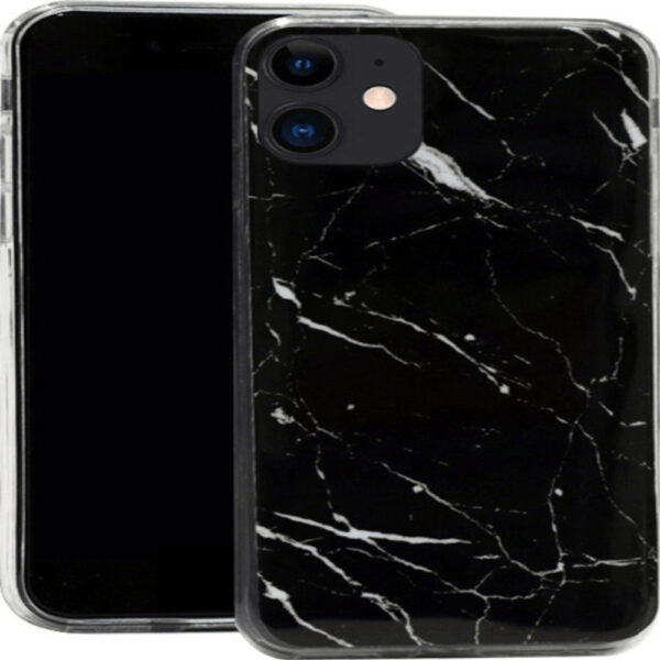 Marble TPU case cover for iPhone 12 Pro Max black