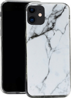 Marble TPU case cover for iPhone 12 Pro Max white