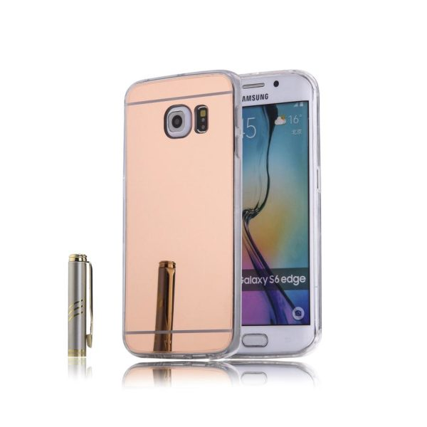s6 edge rose gold mirror